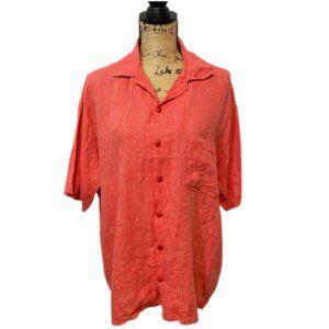 Flax Button Front Shirt size Medium
